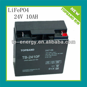 24V 10Ah lithium rechargeable battery for golf carts/energy storage/UPS