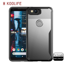 New products shockproof TPU PC transparent Back Cover cell Phone case for Google Pixel 2 XL case