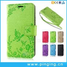New design fashion embossing leather mobile phone cover for Meizu M5c , case cover for Meizu M5c