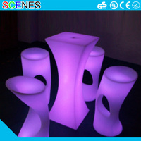modern molded garden treasures garden lighting light up outdoor plastic bar table chairs led illuminated furniture in dubai