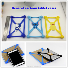 New products 2016 universal cute cartoon frame silicone bumper tablet case