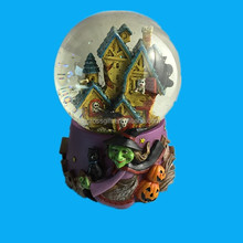Hand painted Resin witch water ball decoration gift craft