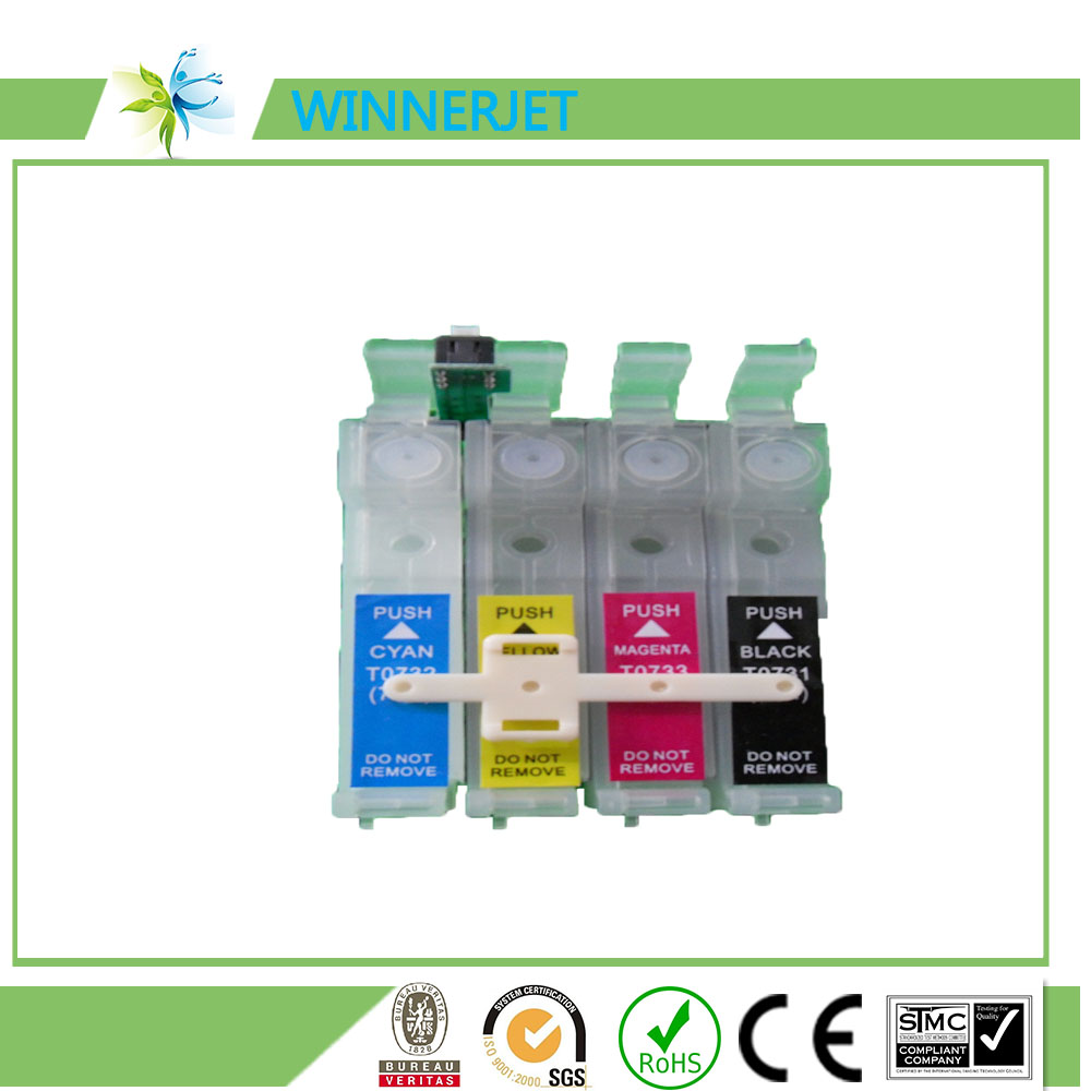 73n T0731 -T0734 empty refillable ink cartridge for epson CX3900 CX5900 CX4900 CX4905 CX3905 printers Auto reset chip