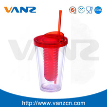 disposable straw cup ice cream