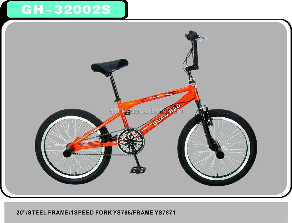 OEM / ODM Freestyle 20 inch Mini Steel Frame Bmx Bikes For Sale