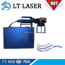10W mobile phone keypad vertical type portable metal fiber laser marking machine for sale