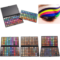 Wholesale glitter custom cosmetics 120 color eyeshadow palette for 4 style color