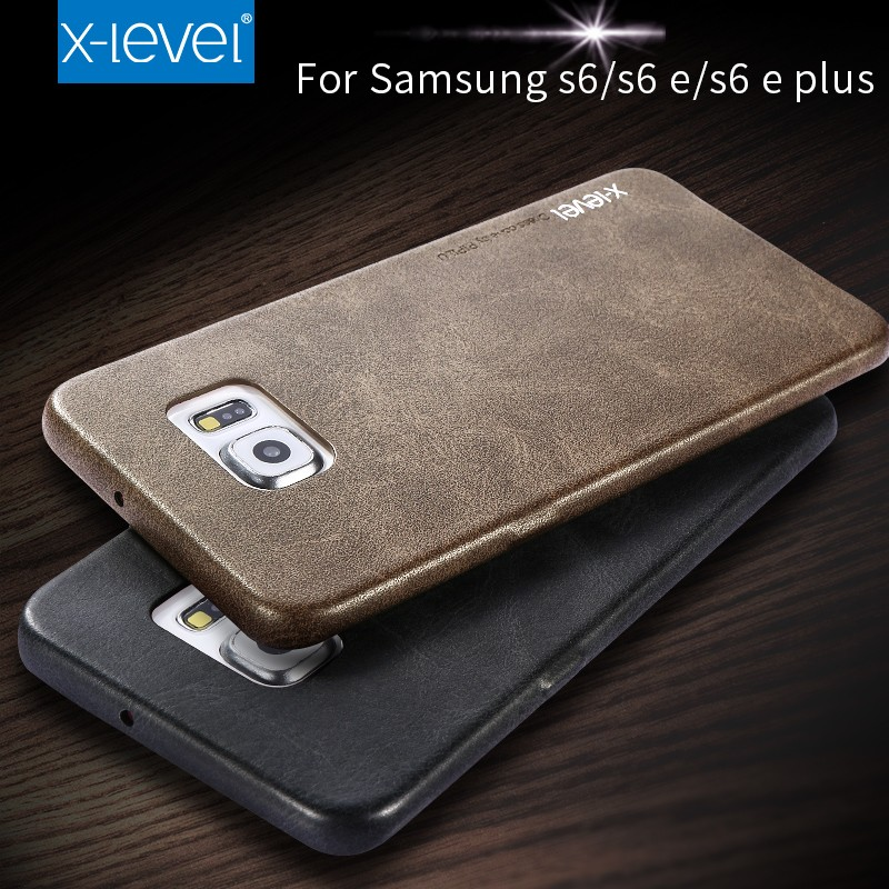 Free Shipping Ultra Thin PU Leather Phone Case For Samsung Galaxy S6 Edge Case