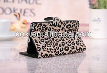 New Arrival Brown Stylish Leopard Pattern Folio Design Premium PU Leather Stand Case Cover for Samsung Galaxy Note 3 N9000 N9006