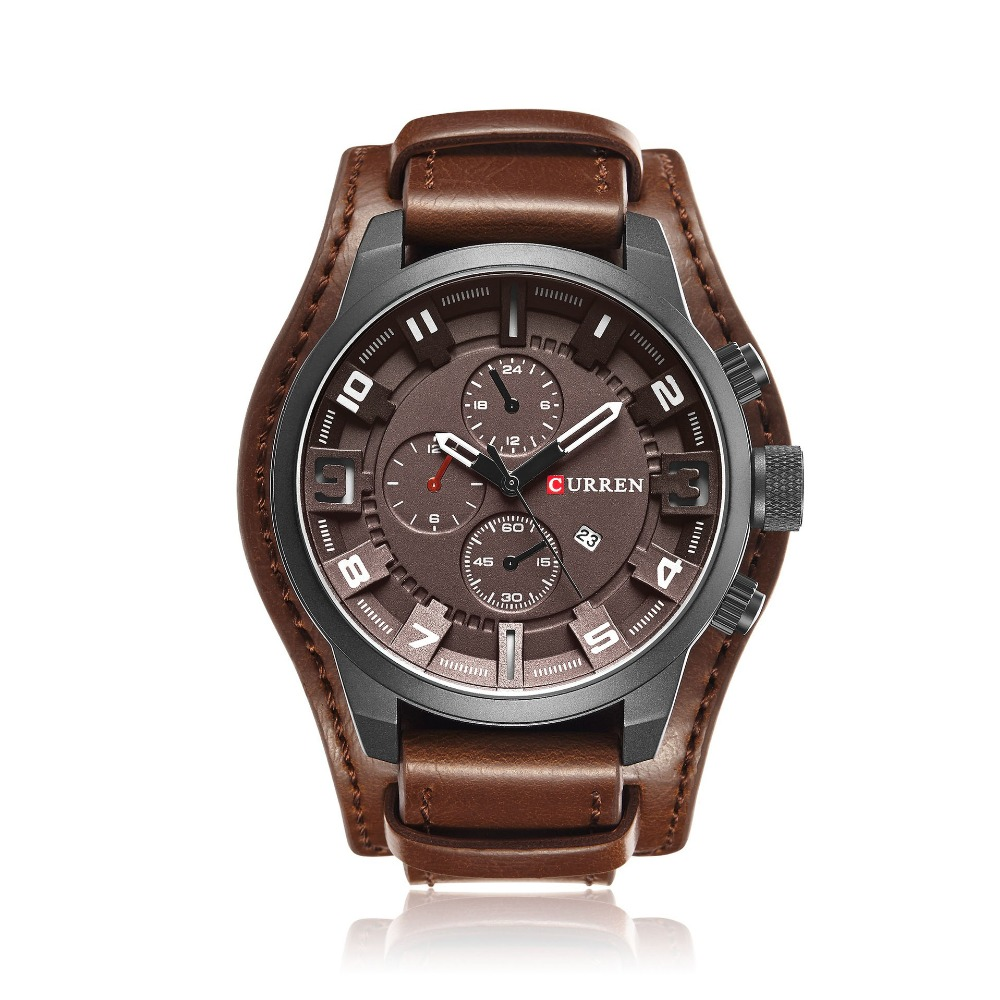 Curren Watch Men Luxury Brand Quartz Men's Watches Leather Waterproof Casual Sport Watch Wrist Military Clock Relogio 8225