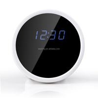 Wifi and motion detection supported clock monitoring camera