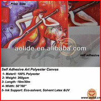 self adhesive art polyester canvas