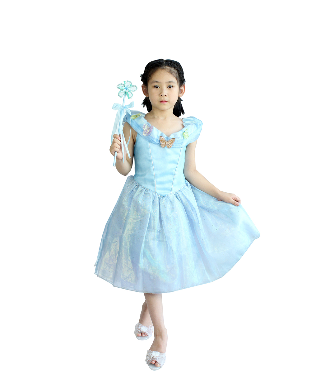Hot Sale Cinderella Dress Children Dress Up Cosplay Costume Custom Made