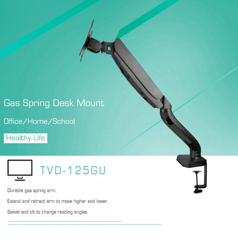 Affordable black desk mount computer monitor arm