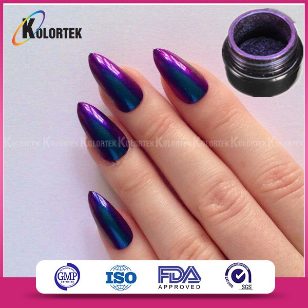 Chameleon magic pigments mirror chrome effect nails powder supplier