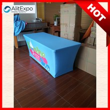6ft laminated printed table cloth manufactures, wholesale cheap polyester table cloth, trade show table cover
