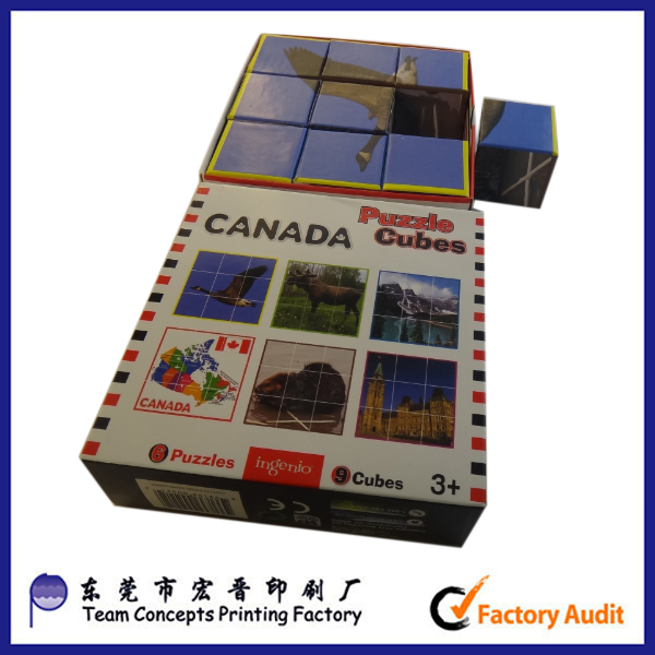 puzzle packaging box with sleeve