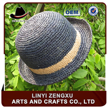 raffia folding flat top mens natural grass straw boater hat