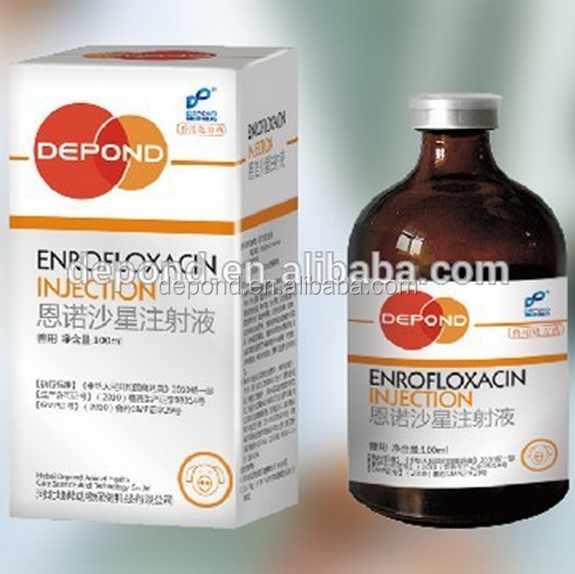 Amoxycillin + Enrofloxacin Injectable Suspension Veterinary Drug