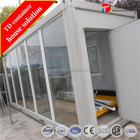 Modular glass container cottages / house