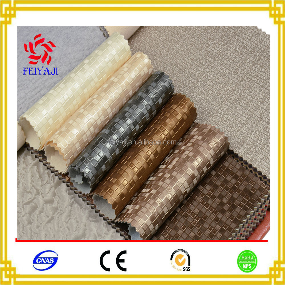 China Suppliers Classic Custom Embossed Synthetic Pu Fabric Leather For Furniture Car Seat