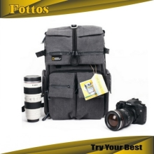 Hot selling fashion canvas waterproof dslr camera backpack bag for Nikon D5100 D7000 D800