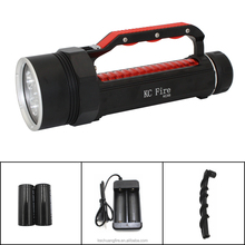 High quality diving torch for sea diving, flashlight LED, high lumens professional scuba diving torch