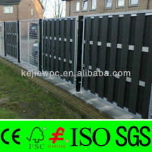 WPC Fence Composite Panels European Style Timber Like Aluminum Beams Garden Fence For Outdoor Use