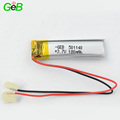 Rechargeable li-polymer battey 501140 3.7v 180mah lipo battery for wireless mouse and keyboard