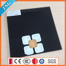 0113 Black Backpainted Ceramic Frit Glass 100% Coverage for Decoration and Kitchen Splash Back