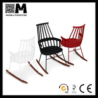 Elegant fashionable new outdoor furniture white rocking chair