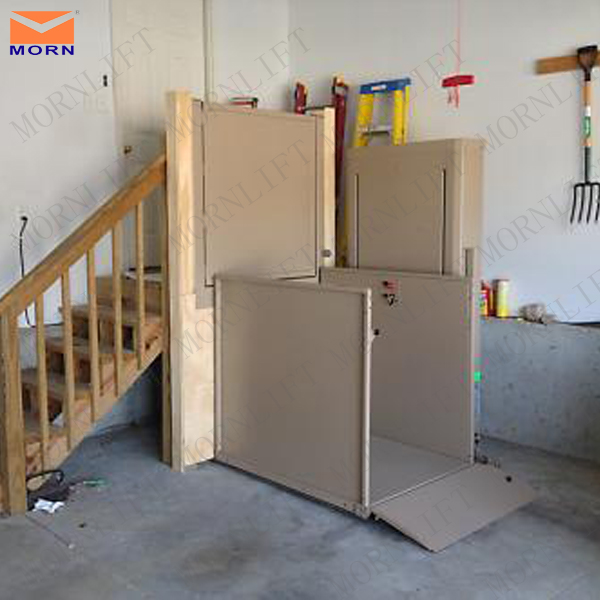 Electric Hydraulic Wheelchair Lift : Outdoor vertical stair electric hydraulic wheelchair lift
