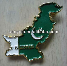 Pakistan map shape souvenirs, metal fridge magnet badge