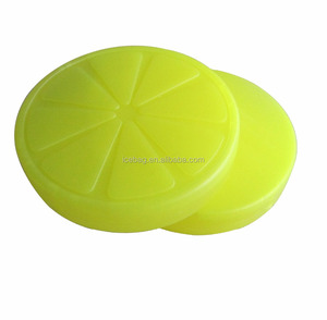 Lemon ice pack for lunch box coolers reusable re-freezable chillers food storage with cut design