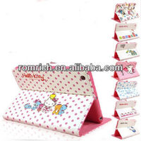 Hello kitty Stand Leather case cover skin for Apple ipad mini