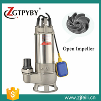 open impeller pump 304&316 material pumps for water