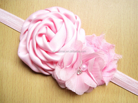 Fancy baby headbands Baby girl rose flowers cotton elastic headband Turban knot headband for girls