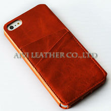 Top Quality Leather Flip Case For Apple iPhone 4 4s 4g 5