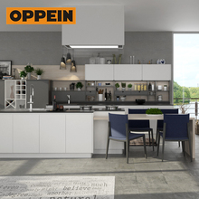 OPPEIN 2018 new products innovative social island design kitchen cabinets with high quality