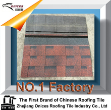 3-tab fiberglass asphalt shingle /bitumen roof materials with top quality in China