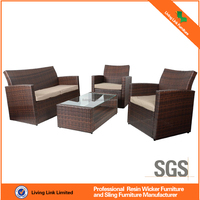 rattan furniture plastic rattan sofa in garden sets