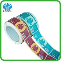 high quality paper labels with custom printed,strong adhesive label sticker