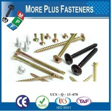 Made in Taiwan Pozi Flat Countersunk Head Chipboard Ccrews form Z Partial Thread Assortment of Flat Countersunk Head Chipboard