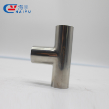 Welded tee stainless steel sanitary pipe fitting