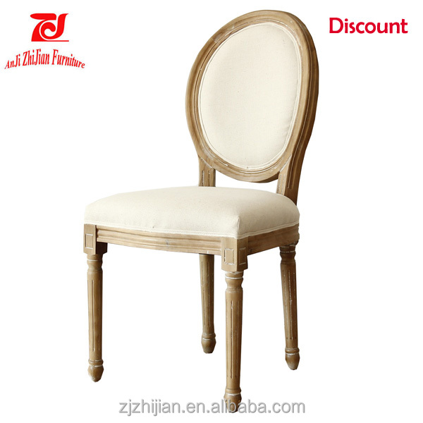 Wedding Furniture Chair French Style Wood Chair Old Shabby Louis Chair ZJF67