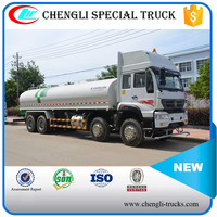 SINO 12 Wheels 8*4 290hp 25000 liters Water Truck Water Carrier Truck
