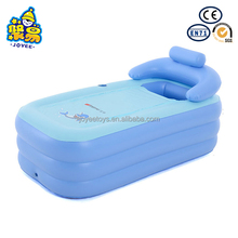 In stock custom OEM inflatable plastic portable bathtub for adults