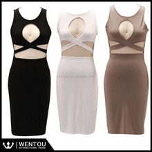 Wholesale Sexy Ladies Xavier Bodycon Midi Dress