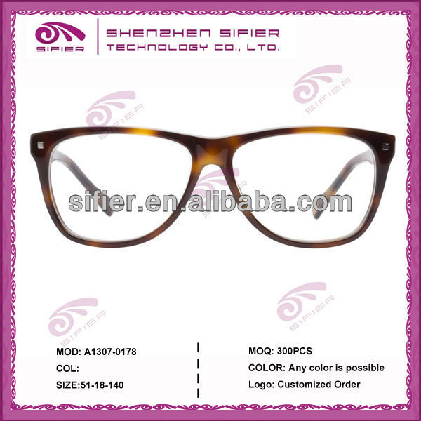 Oversize With Metal Rivets Optical Frame Acetate