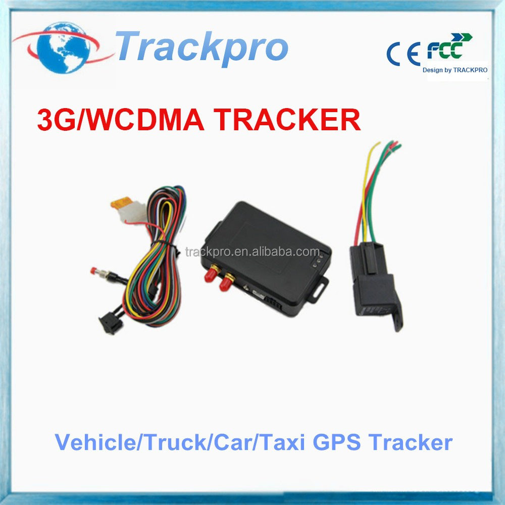 3g gps car tracker with WCDMA 3G network and GSM network, support remote engine start/ SOS alarm/tracking via SMS Trackpro TR60